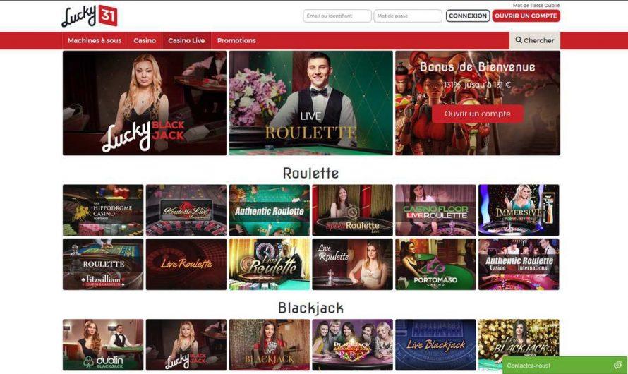 Lucky31 avis : un casino à recommander ?