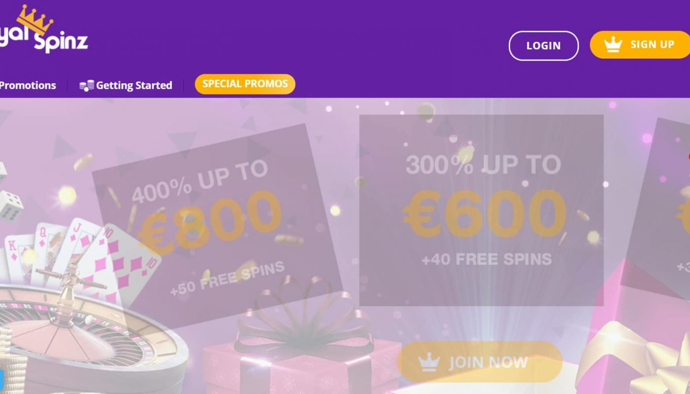 test royal spinz casino